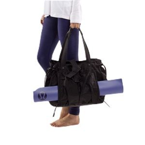 Lululemon Om Tote Bag Black Nylon Carry All Duffel